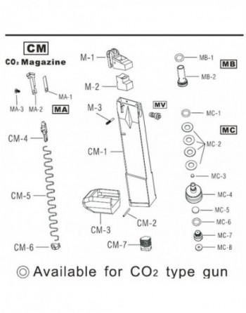 Pistola Eléctrica AEP CM030 marca CYMA